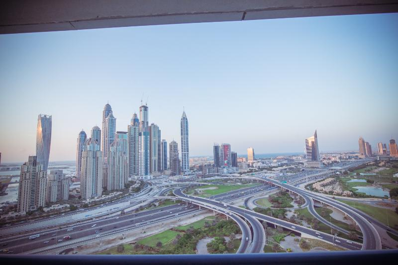 View from the Bedroom Balcony - 1 Bedroom Duplex with Full Dubai Marina view - Dubai - rentals