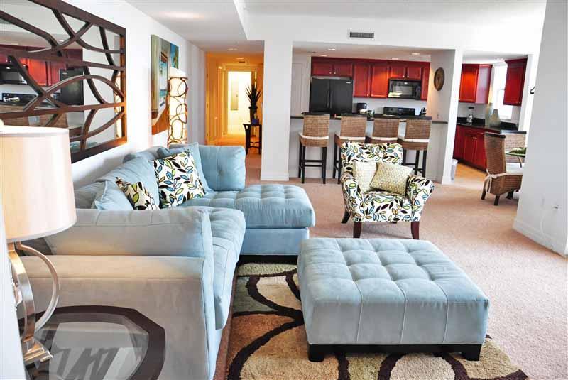 Living Room - Fall $pecials- Opus Condominium #1105 - Ocean View - Daytona Beach - rentals