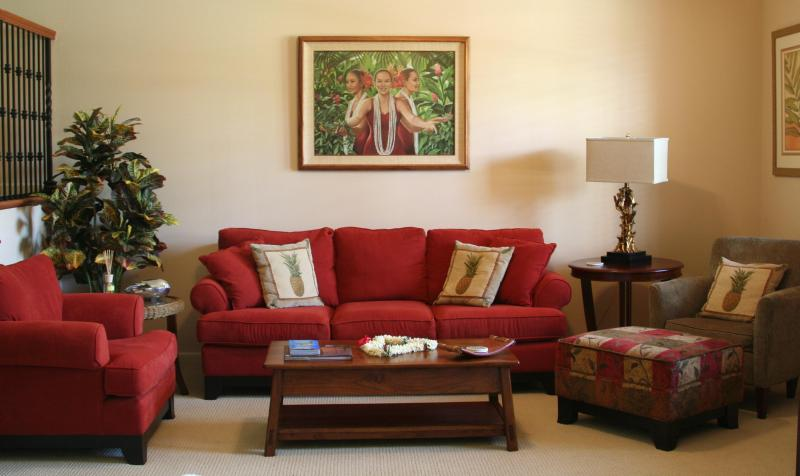 Living Room with Flat Screen TV - Hawaiian Paradise: See Our Location! So Many Extras! You Will Love It! - Kamuela - rentals