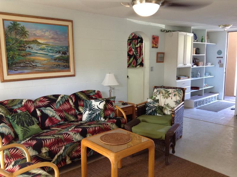 Living room - North Shore Condo in Waialua, Oahu, Hawaii, USA - Oahu - rentals