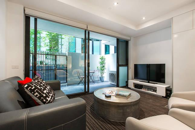 luxury living area leading to courtyard - Parkside Glam  2 BR FREE WIFI - St Kilda - rentals