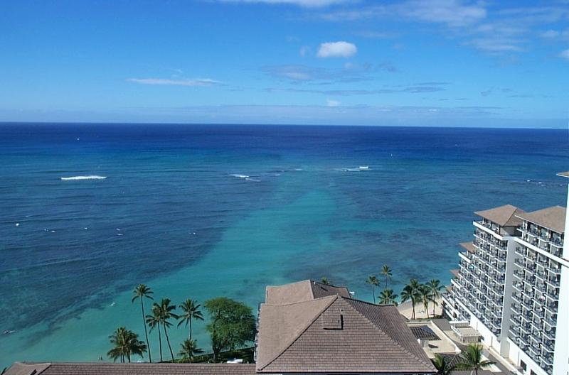View from 26th floor - Waikiki Beach, Hawaii: One Bedroom, Two Bath Condo - Honolulu - rentals