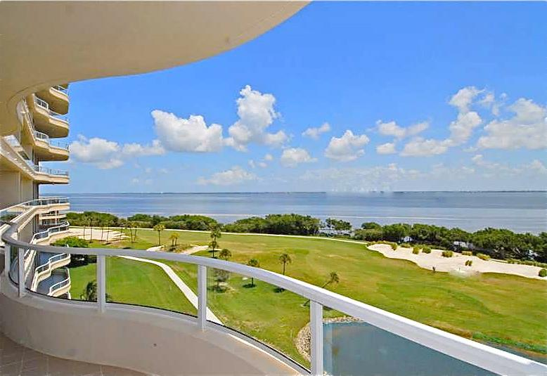 View From Terrace that encircles condo.  View South East to Sarasota Bay. Protected Mangrove shore - Luxury Condo 3 Month Min. Bay View, Gulf Access. - Longboat Key - rentals