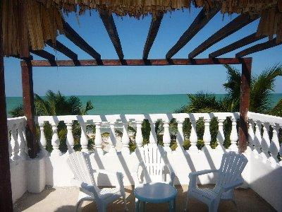View to the beach,Casa Maya Lodge - Beachfront Casa Maya Lodge, Robinson Crusoe 100% - El Cuyo - rentals