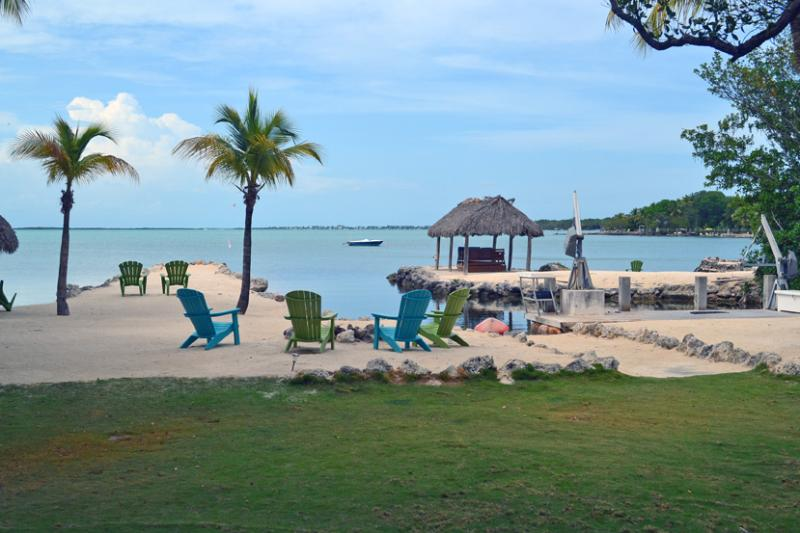 Back Yard View - Key Largo Dreams. Ocean Front w Beach, Boat Basin - Key Largo - rentals