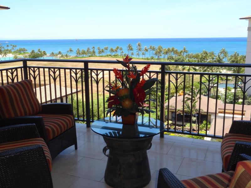 Spectacular Ocean View from our lanai - Spectacular Ocean view 3br at Beach Villas at Ko Olina Resort   (20802) - Kapolei - rentals