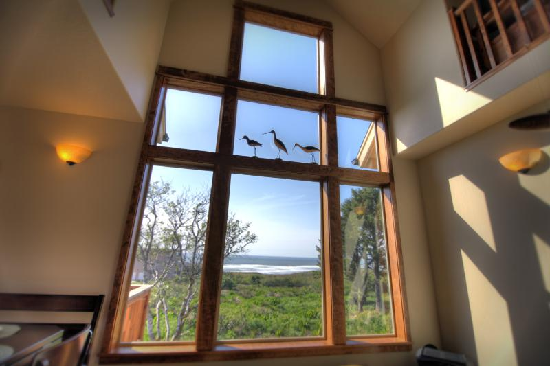 Ocean View from the Living Room - Ocean View in this Beautiful Craftsman Home! - Yachats - rentals
