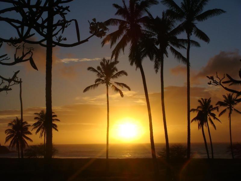 Sunset from the condo lanai - Kepuhi Beach No. 2193 - Ocean & Sunset View - Maunaloa - rentals