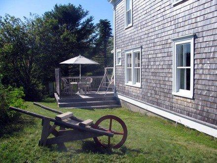 Side Deck with Ocean view - Ocean View Cedar Fisherman's Cottage - LaHave - rentals