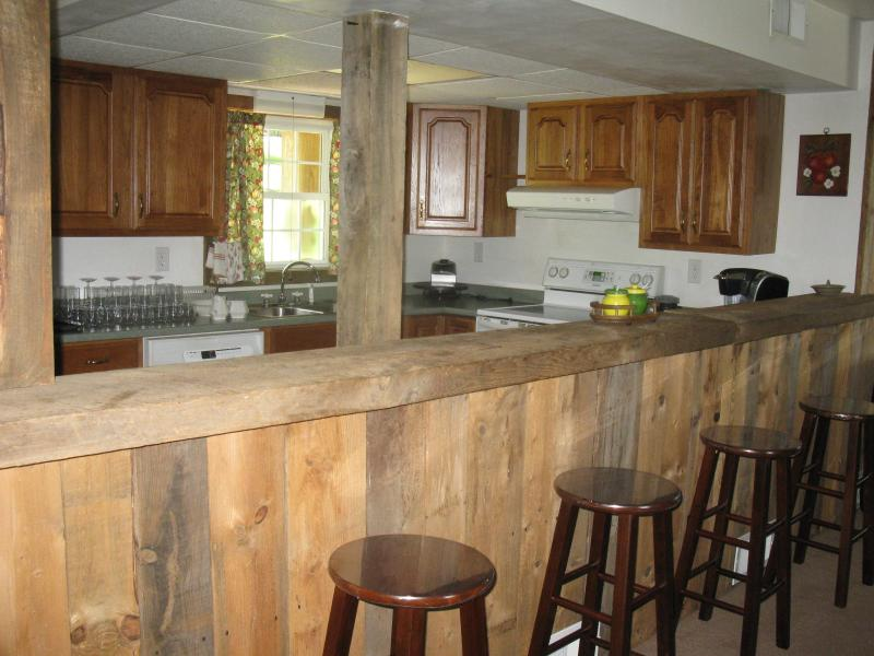 Barnwood paneling in dining area - CELEBRATING FRANK LLOYD WRIGHT 2 nights for $275 - Normalville - rentals