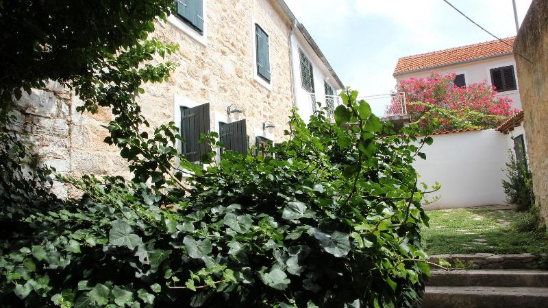 Garden view at house - Authentic Dalmatian Stone House with Spa - Jadrija - rentals