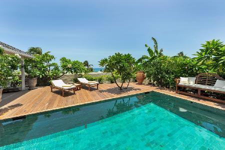 La Belle Epoque offers fantastic terrace with pool, short walk to the beach - Image 1 - Grand Cul-de-Sac - rentals
