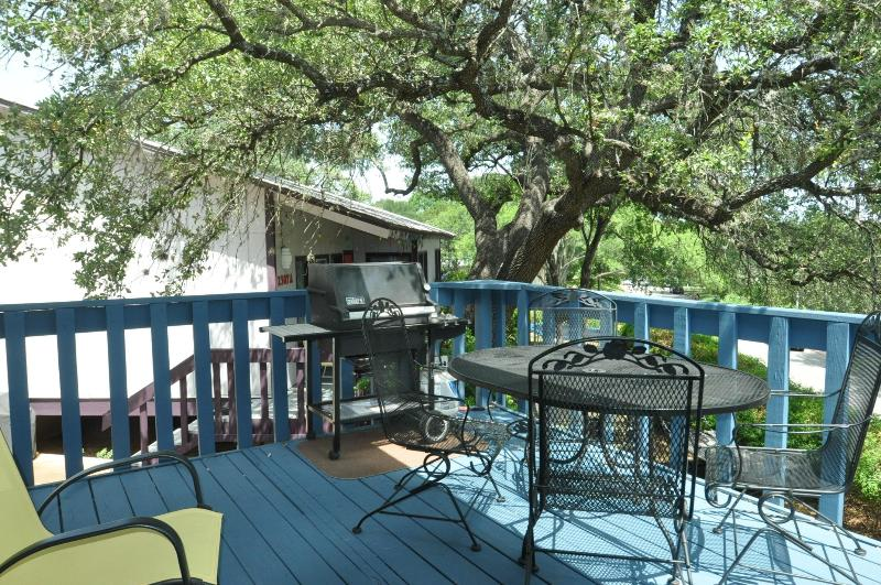 Propane gas grill and table with 4 chairs. - Park Place - 2/1 with deck by Zilker, 2 mi to DT! - Austin - rentals