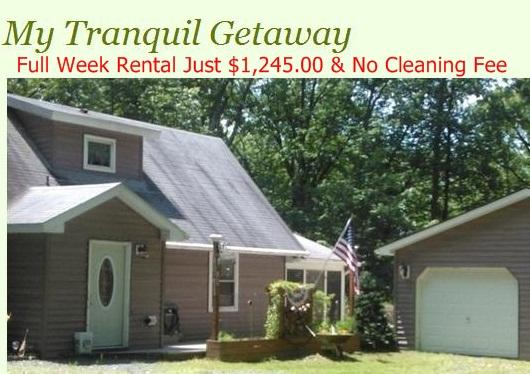 Book your 2016 Vacation Now Reg $1495. - My Tranquil Getaway - Lake Wallenpaupack, Pa - Paupack - rentals