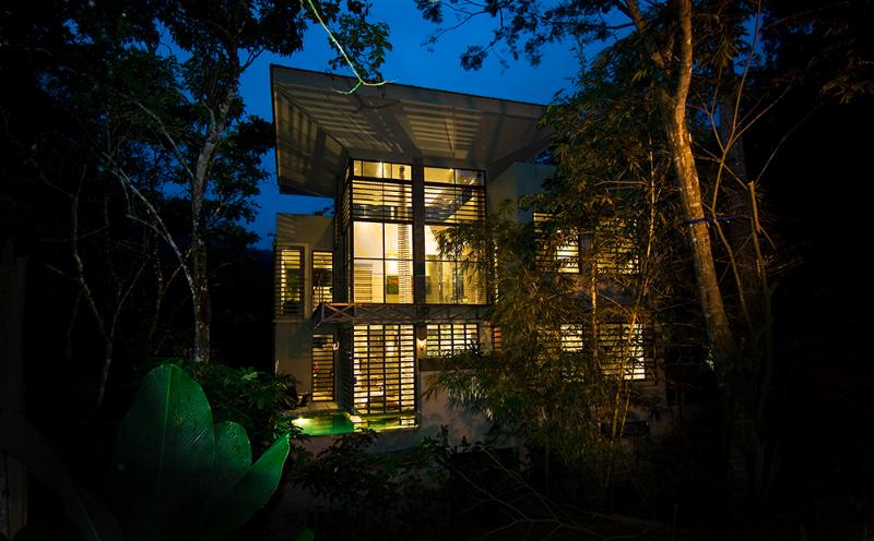 Night view of Casa de Agua - Bali Style Home,book now! - Manuel Antonio National Park - rentals