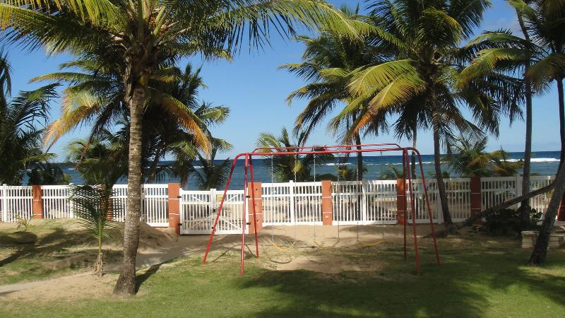 Play area and beach access - Ground Floor Apartment  * Private Paradise *  Luquillo, Puerto Rico - Luquillo - rentals