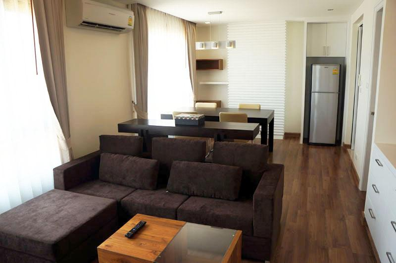 """Living room and dining area - 1-Bedroom """"The Shine"""" New Affordable Luxury Condo - Chang Khlan - rentals"""