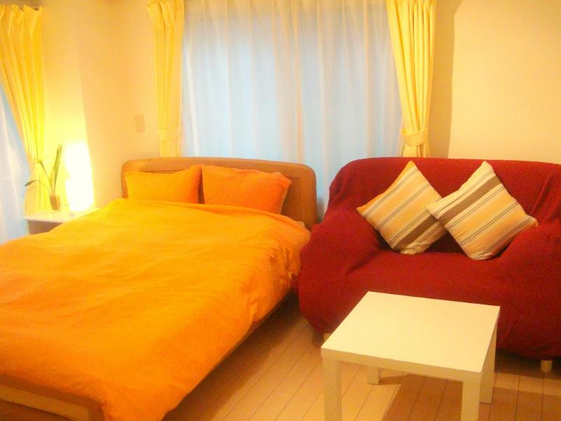 Double-sized Bed and Sofa Bed (RoomType-C) - Pocket Wi-Fi !  Stylish Apartment in Tokyo! - Tokyo - rentals