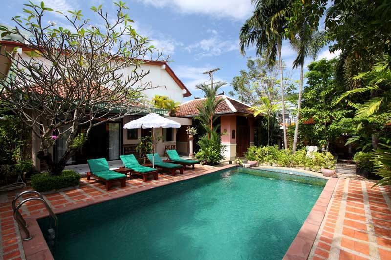 Pool view - Villa Lila - 3 bedroom Balinese style villa - Kamala - rentals