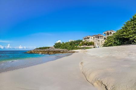 Sand Castle - Secluded Tuscan inspired 10,000 sq ft beachfront villa on the North Shore with pool - Image 1 - Limestone Bay - rentals