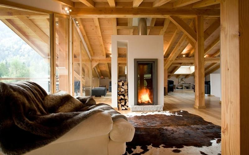 Open plan living/dining/kitchen area - Chalet Maya, Argentiere, Chamonix - Chamonix - rentals