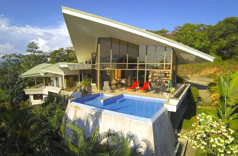 Aerial of Pool - Casa de las Cascadas: 4BR Modern Home w/ 2 Pools! - Manuel Antonio - rentals