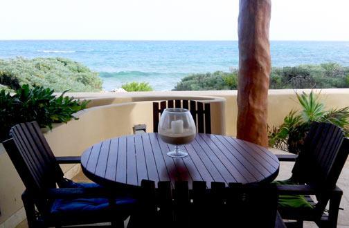 Eat Breakfast on your private terrace every morning - Hidden Gem - Costa Maya Villa #101 pool level - Majahual - rentals