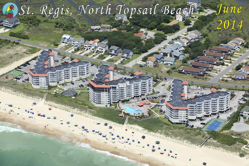 Aerial View - St. Regis 1111 Oceanfront! |  Indoor Pool, Outdoor Pool, Hot Tub, Tennis - North Topsail Beach - rentals