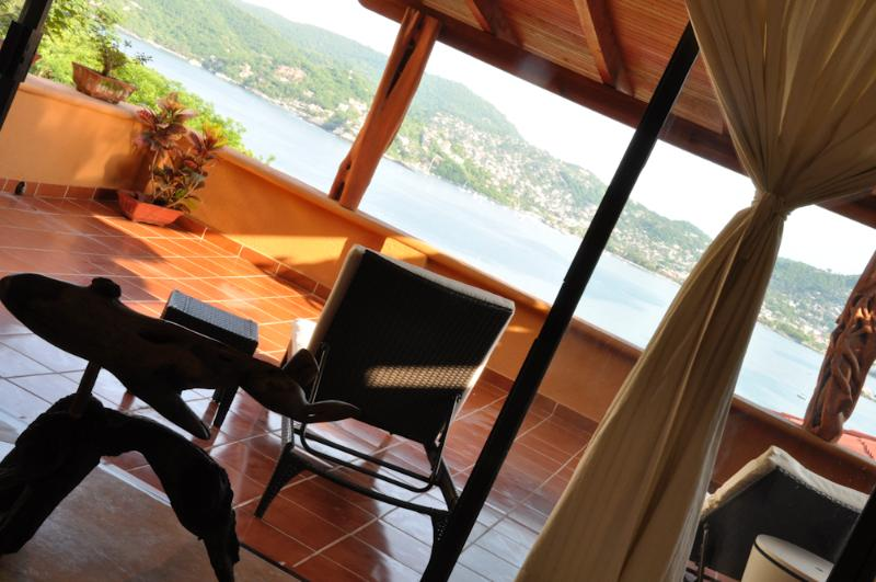 Enjoy the view from our private terrace - A Spacious yet Affordable Splurge Ocean Views Pool - Zihuatanejo - rentals