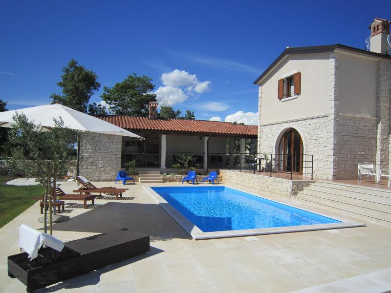 New villa with swimming pool and large fenced garden. - Villa with pool, garden, privacy - charm of Istria - Cabrunici - rentals