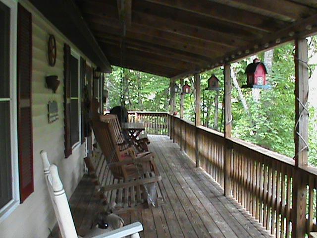 Porch view - Cabin Unplugged - Maggie Valley - rentals