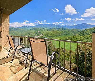 View of your deck - Gatlinburg's Highlands Condominium - Gatlinburg - rentals