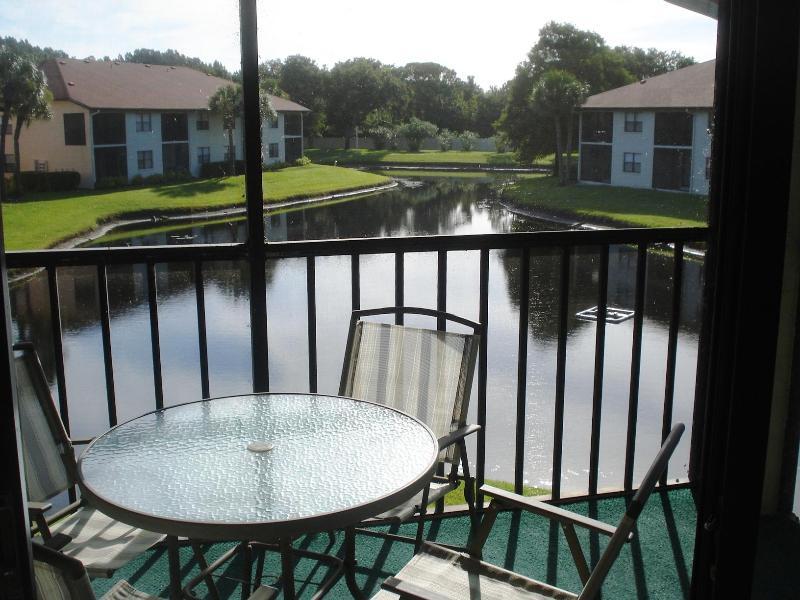 Balcony with Lake view - Shorewalk Condo Bradenton MB - Bradenton - rentals