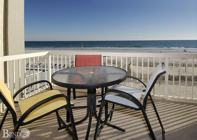 Balcony and View - Caribbean 201 ~ Real Beachy Condo with Garden Tub~Bender Vacation Rentals - Gulf Shores - rentals
