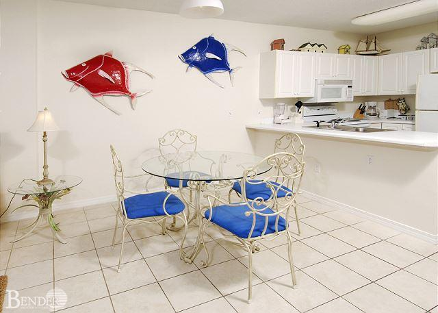Dining Area - Caribbean 202 ~ Bright and Beachy Beachfront Condo~Bender Vacation Rentals - Gulf Shores - rentals