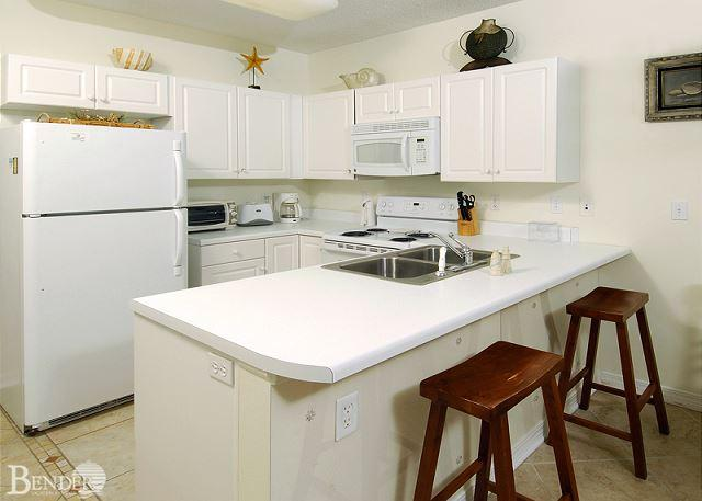 Kitchen Area - Caribbean 301~Corner Condo with M. Bath Garden Tub~Bender Vacation Rentals - Gulf Shores - rentals