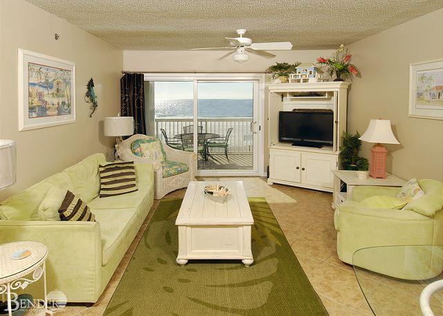 Living Room Area - Caribbean 204~West Corner Condo, Fantastic Gulf Views~Bender Vacation Rentals - Gulf Shores - rentals