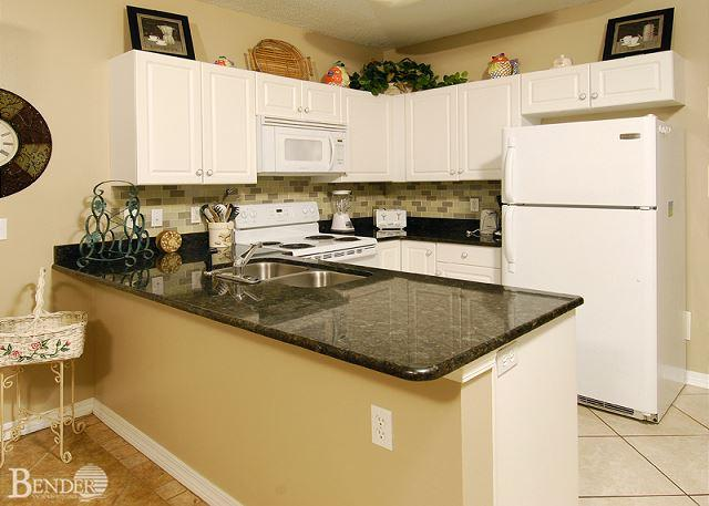 Kitchen Area - Caribbean 204~West Corner Condo, Fantastic Gulf Views~Bender Vacation Rentals - Gulf Shores - rentals