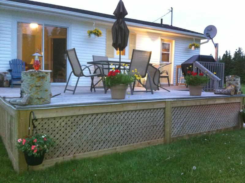 The front deck overlooking the bay - Greenwich Moonlight Bay - Stunning waterview/beach - Prince Edward Island - rentals