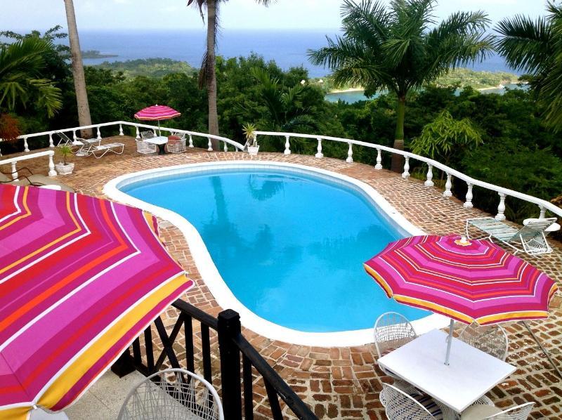 Pool with view of ocean - LaSolana Villas - Port Antonio - rentals
