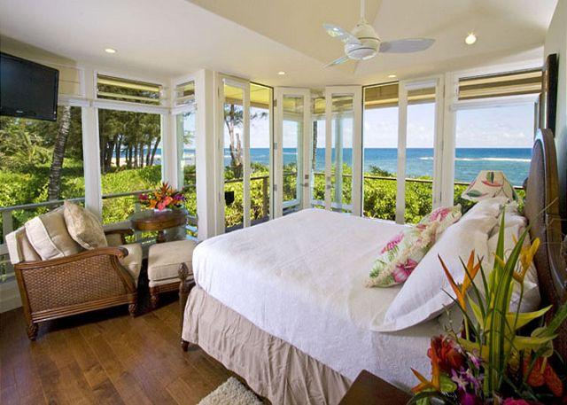 Beachfront Tropical Dream House with A/C and new amenities! - Image 1 - Haena - rentals