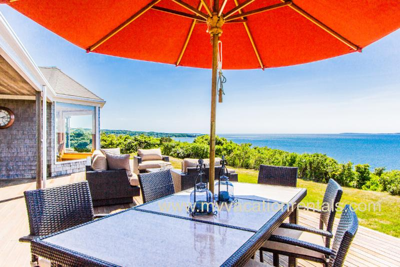 Deck and Spectacular Views - HERGM - Outstanding Waterfront Home, Magnificent Waterviews, Private - West Tisbury - rentals