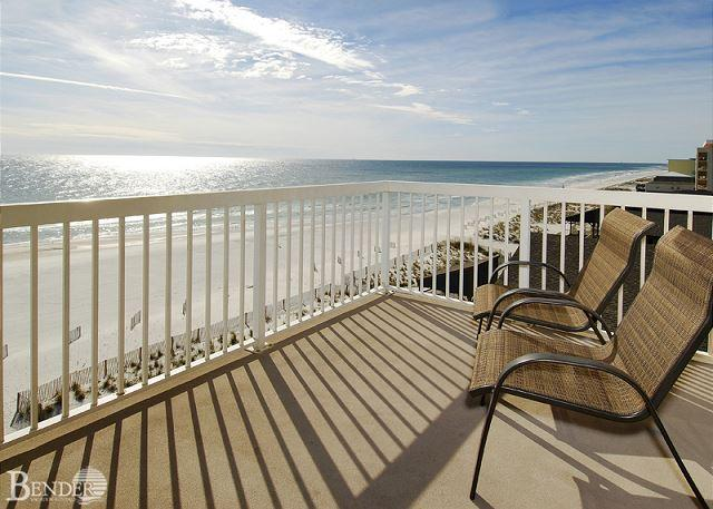 Balcony and View - Caribbean 604~W. Corner Condo, Fabulous Gulf Views~Bender Vacation Rentals - Gulf Shores - rentals