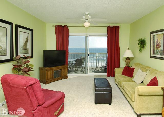 Living Room Area - Caribbean 603~Serene and Beautiful Beachfront Condo~Bender Vacation Rentals - Gulf Shores - rentals