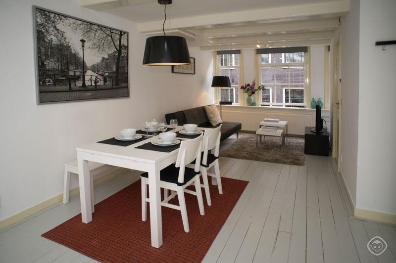 Living Room Overview Jordaan B&B Studio Apartment Amsterdam - Jordaan BnB apartment Amsterdam - Amsterdam - rentals