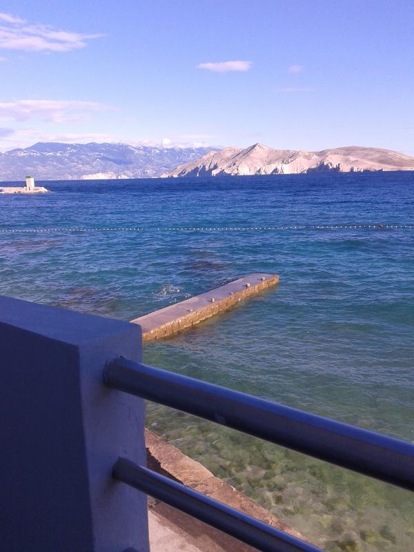 view from the apartment - Apartment on the beach in town - SUN - Baska - rentals