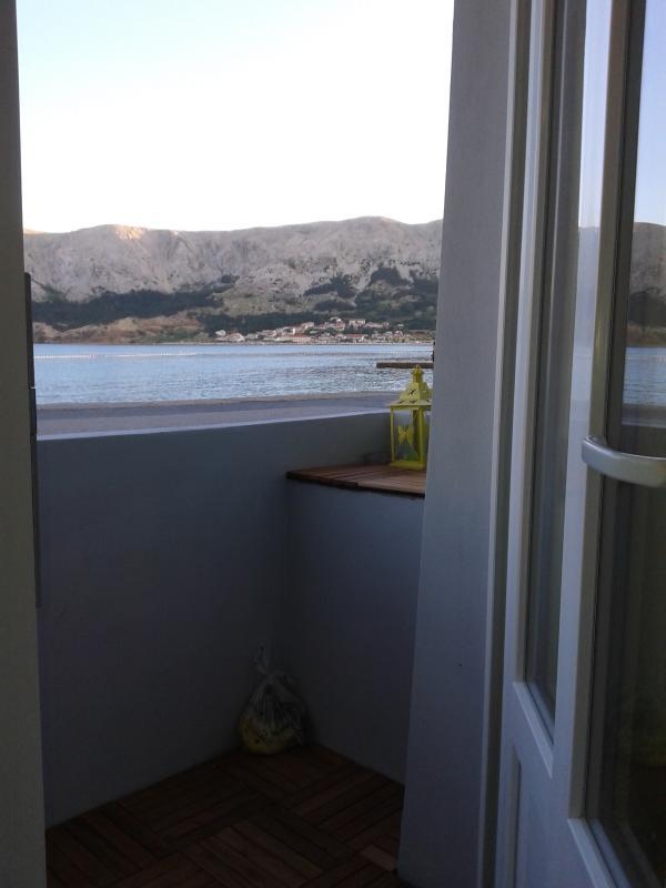 wiev from the APP - Beach access apartment - FUN - Baska - rentals