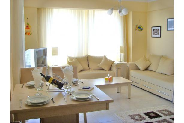 MAIN LIVEING AREA. EVERY THING YOU NEED FOR A SELF CATERING HOLIDAY. - luxury two bed roof top apartment in yalikavak. - Bodrum - rentals