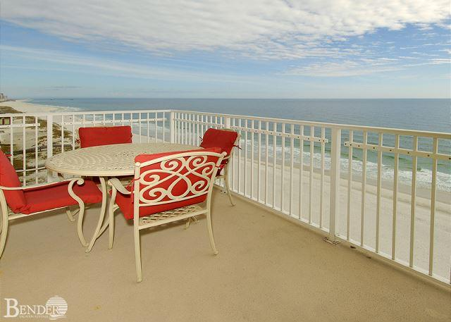 Balcony and View - Crystal Shores 1001 ~ Fabulous East Corner Condo ~ Bender Vacation Rentals - Gulf Shores - rentals