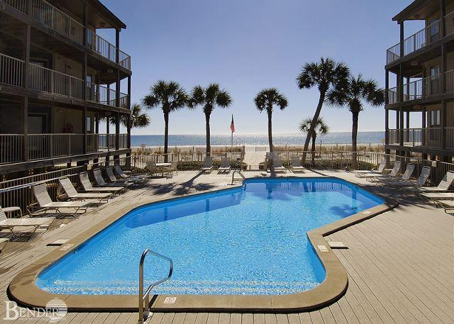 Pool Area - Sandpiper 3B ~ Listen to Breezes through Palms Trees~ Bender Vacation Rentals - Gulf Shores - rentals